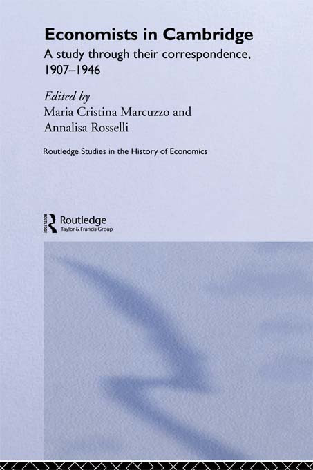 Economists in Cambridge: A Study through their Correspondence, 1907-1946 (Paperback) book cover