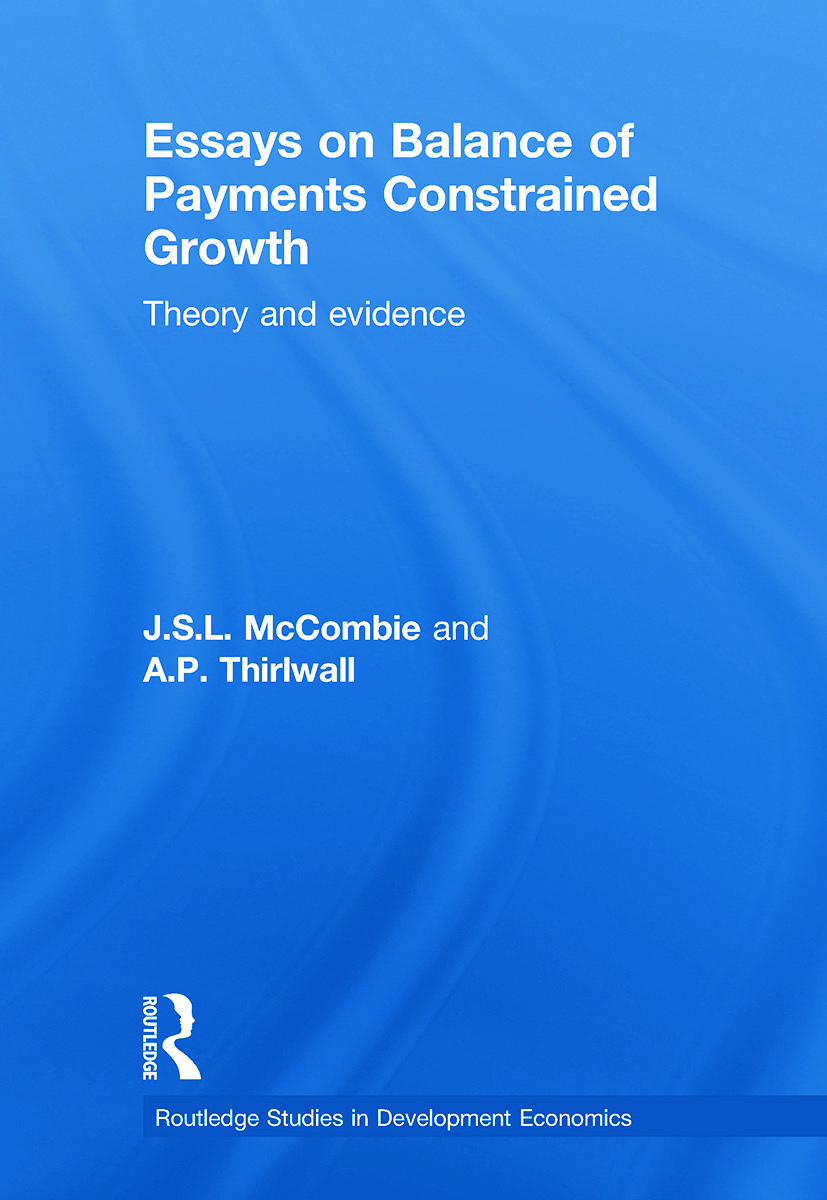 Essays on Balance of Payments Constrained Growth: Theory and Evidence (Paperback) book cover