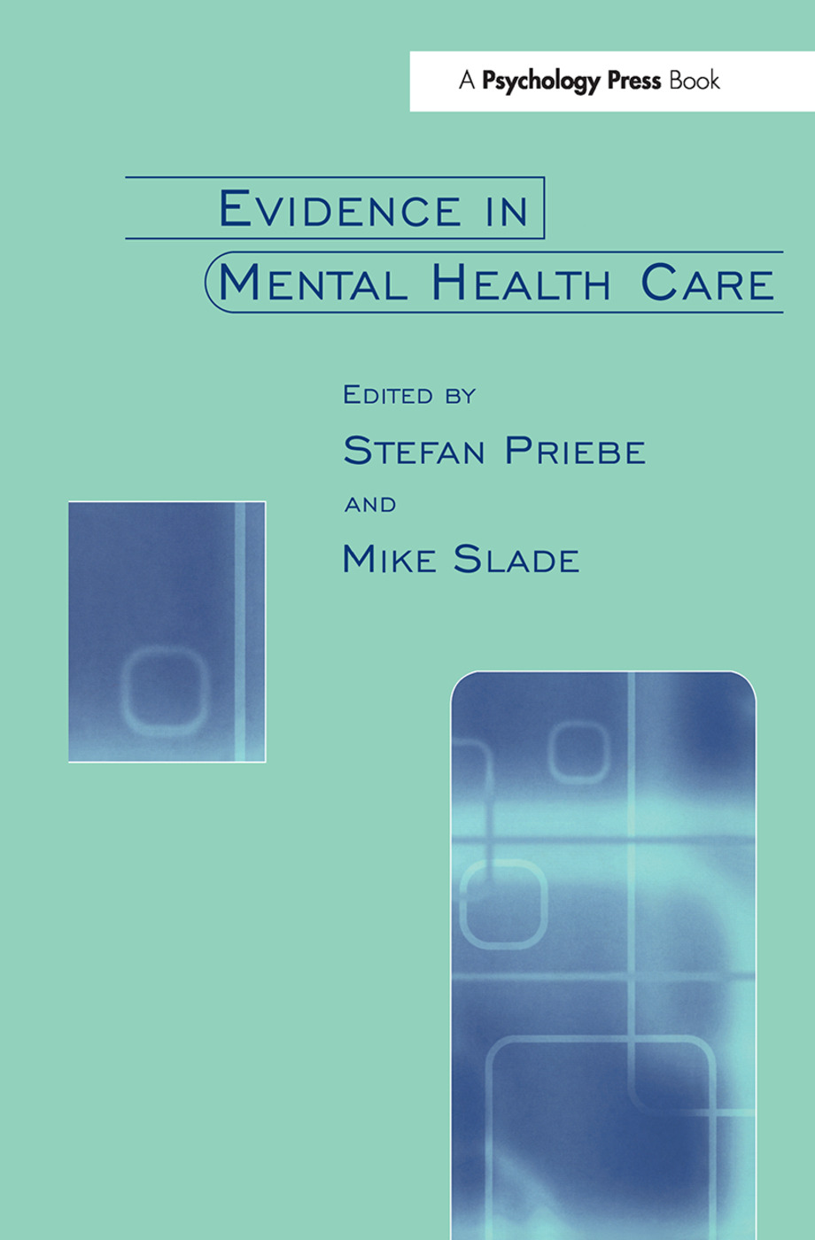 Evidence in Mental Health Care (Paperback) book cover