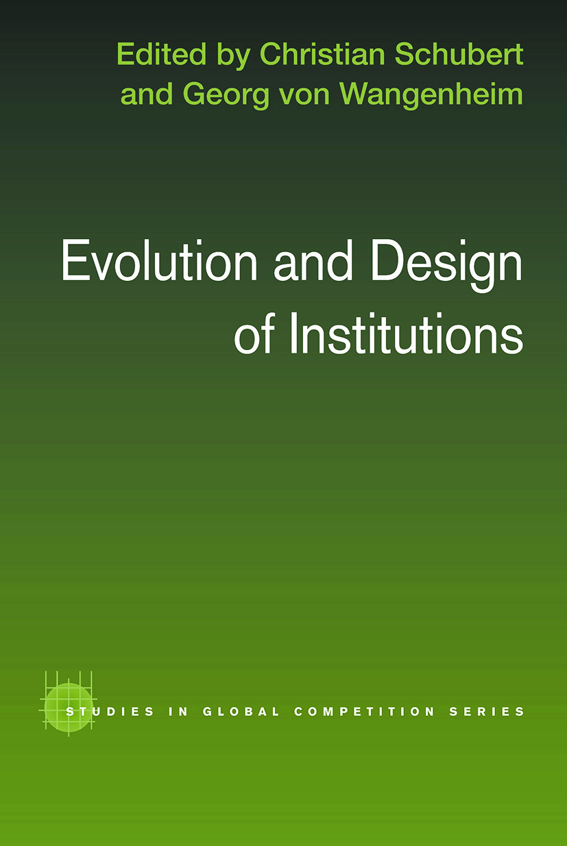 Evolution and Design of Institutions (Paperback) book cover