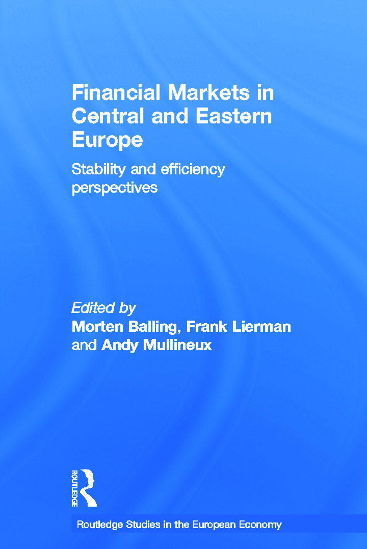 Financial Markets in Central and Eastern Europe: Stability and Efficiency book cover
