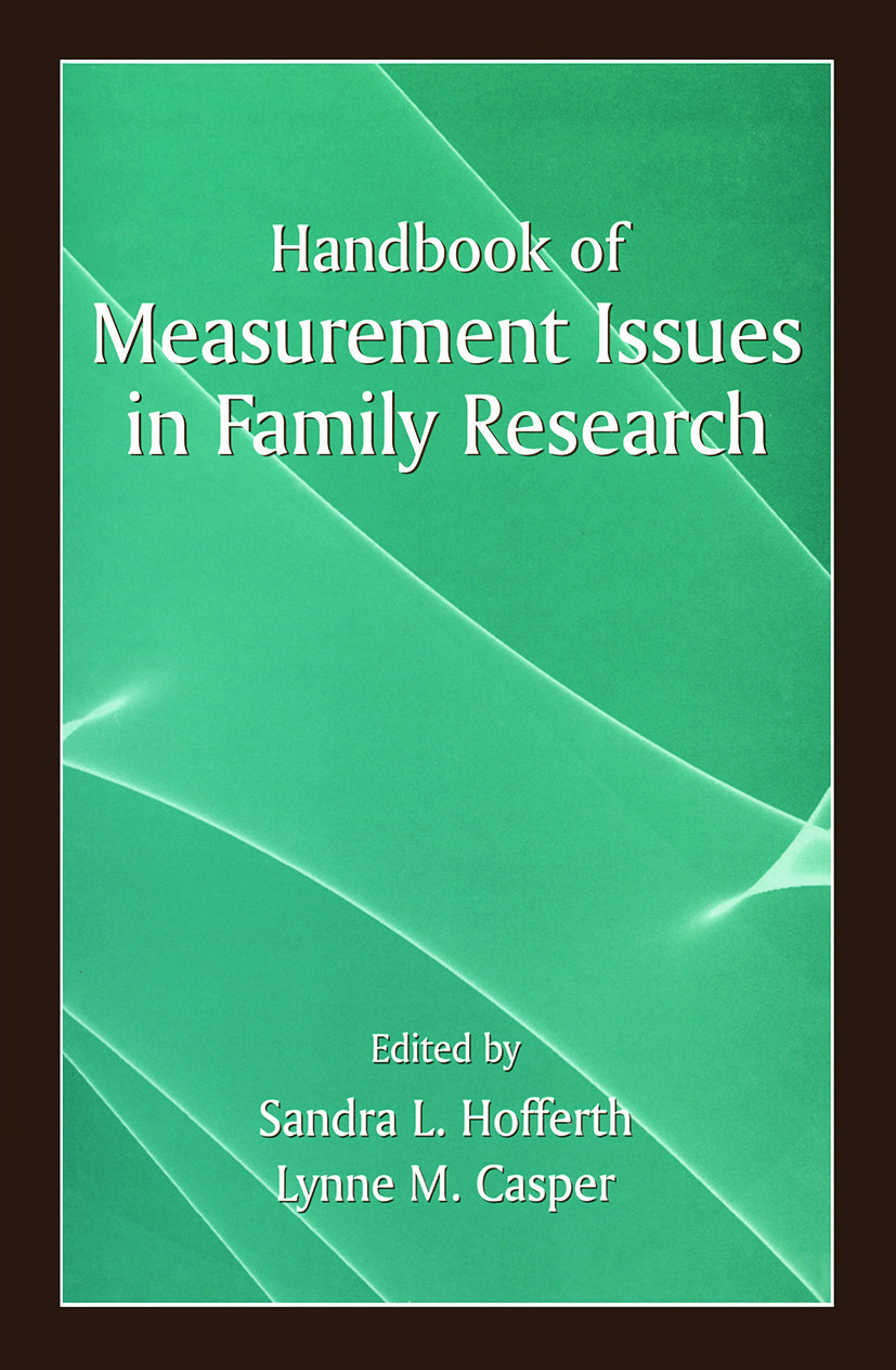 Handbook of Measurement Issues in Family Research (Paperback) book cover