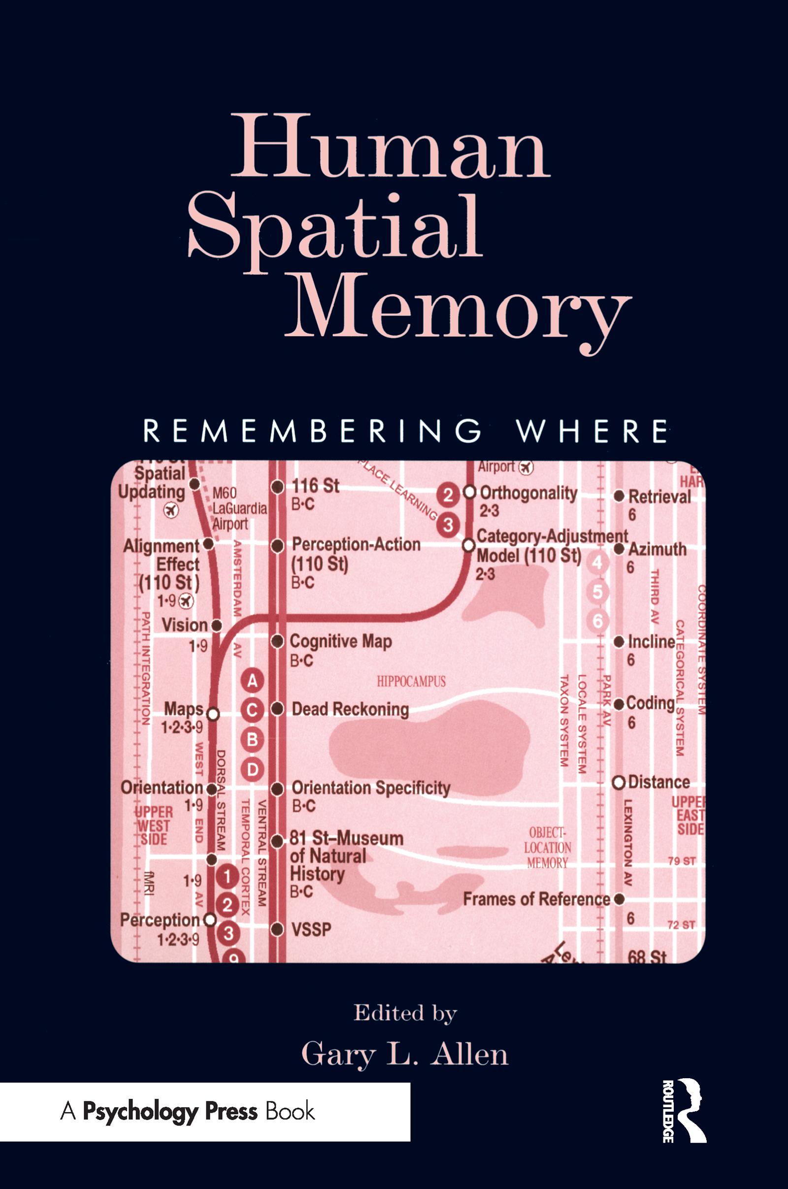 Human Spatial Memory: Remembering Where (Paperback) book cover