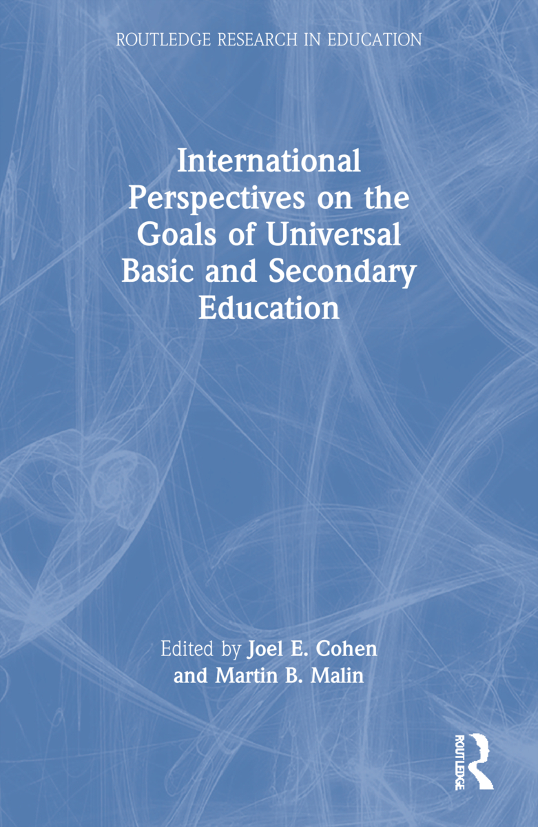 International Perspectives on the Goals of Universal Basic and Secondary Education (Paperback) book cover