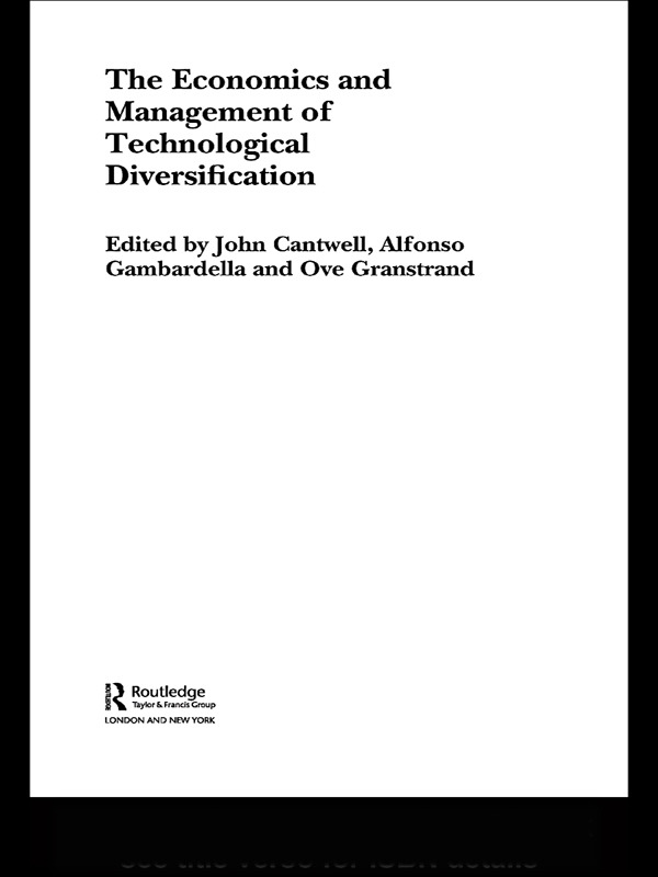 The Economics and Management of Technological Diversification: 1st Edition (Paperback) book cover