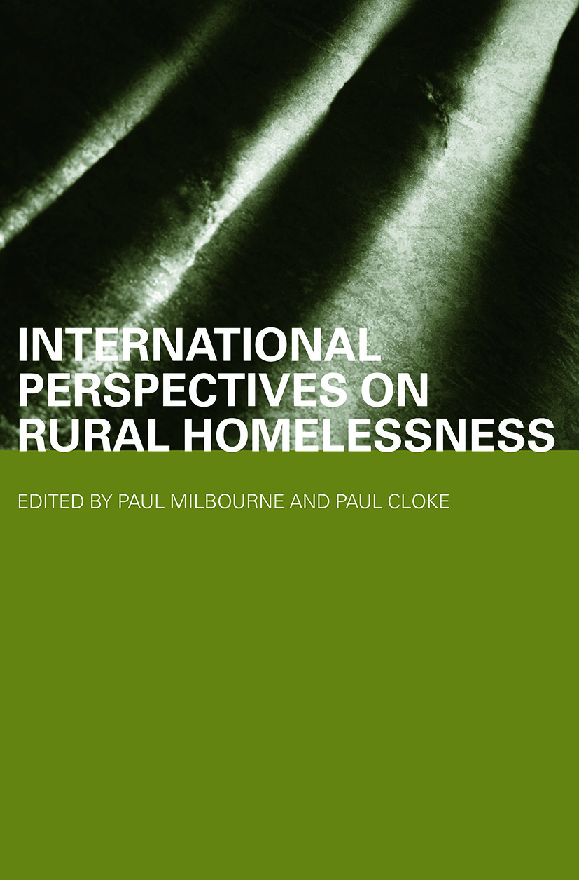 International Perspectives on Rural Homelessness (Paperback) book cover