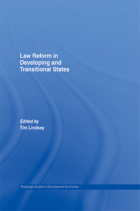 Law Reform in Developing and Transitional States (Paperback) book cover