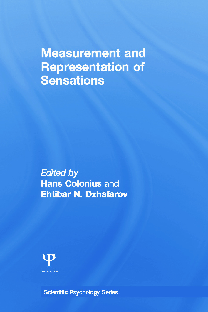Measurement and Representation of Sensations (Paperback) book cover