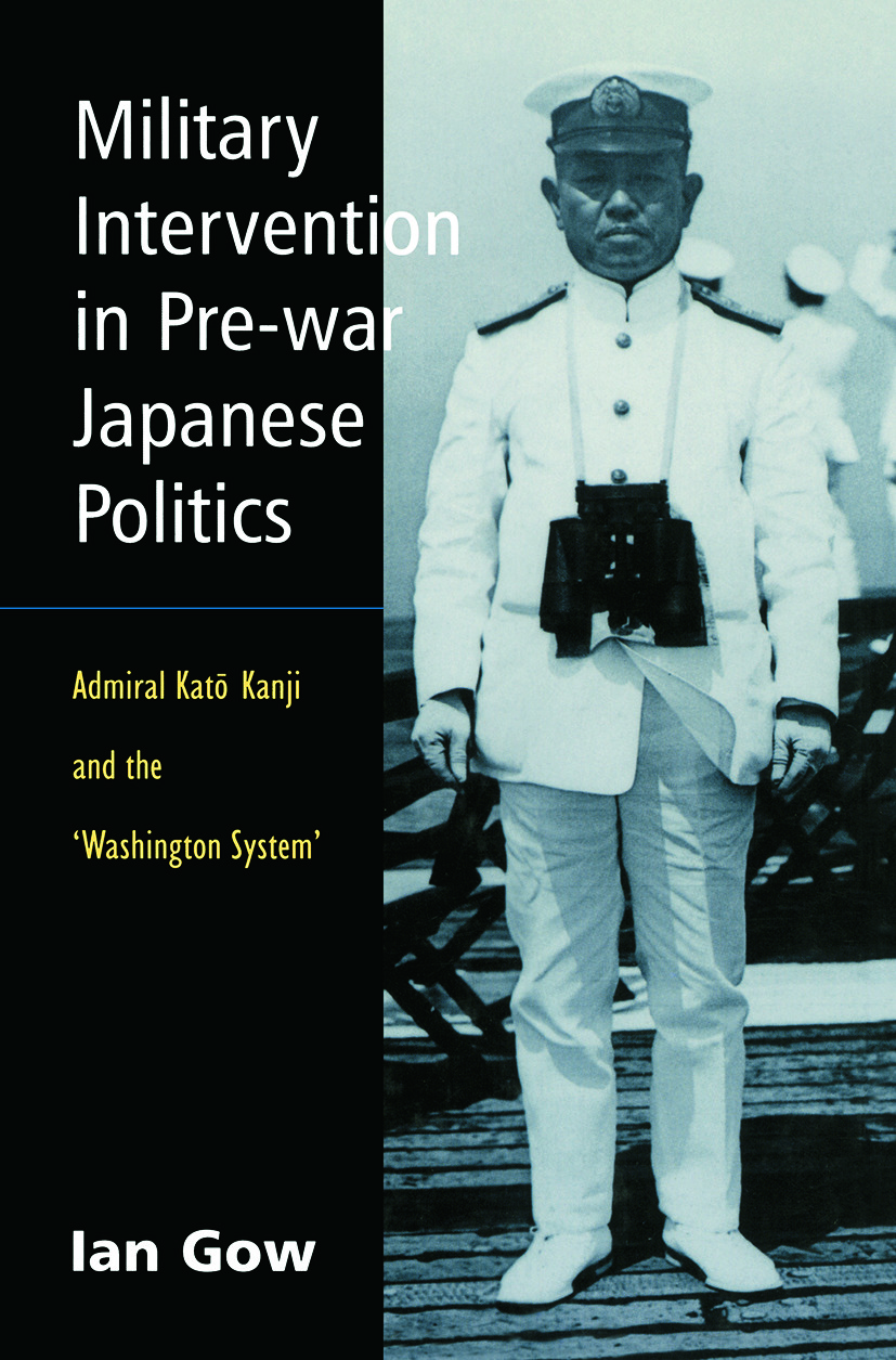 Military Intervention in Pre-War Japanese Politics