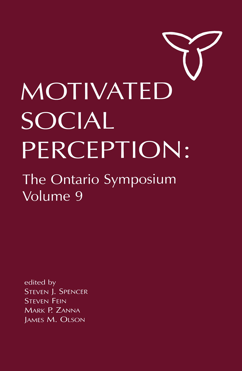Motivated Social Perception: The Ontario Symposium, Volume 9 book cover