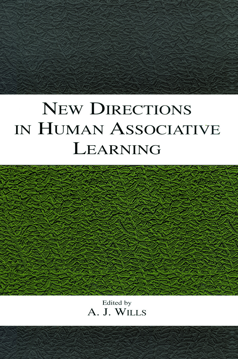 New Directions in Human Associative Learning (Paperback) book cover