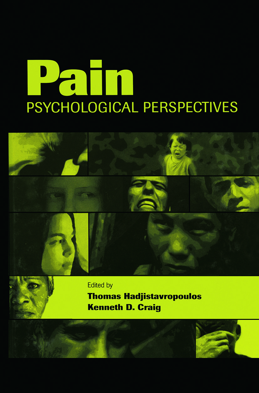Pain: Psychological Perspectives, 1st Edition (Paperback) book cover