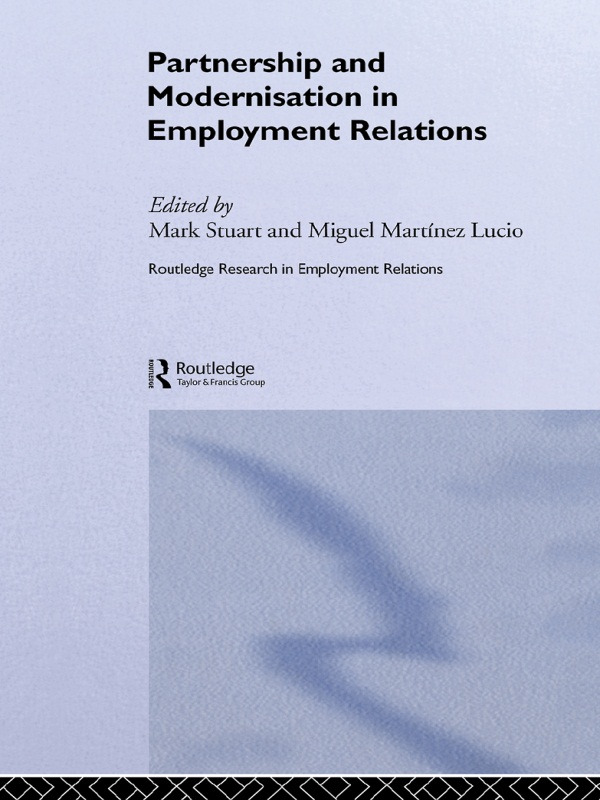 Partnership and Modernisation in Employment Relations (Paperback) book cover