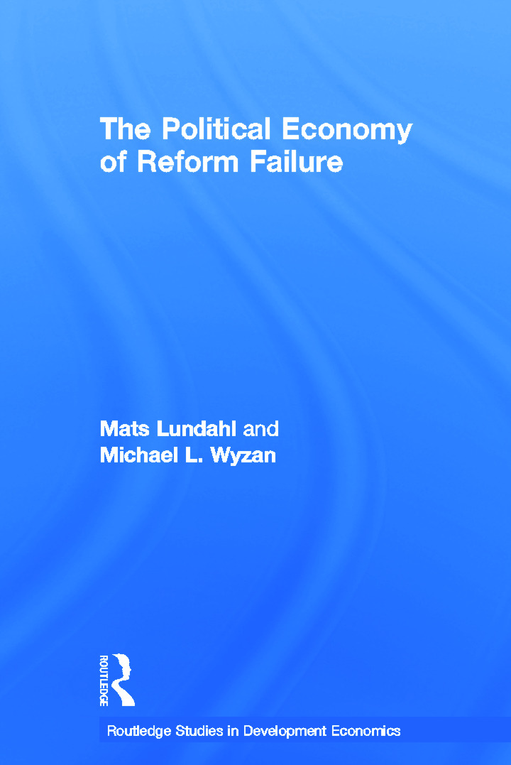 The Political Economy of Reform Failure (Paperback) book cover