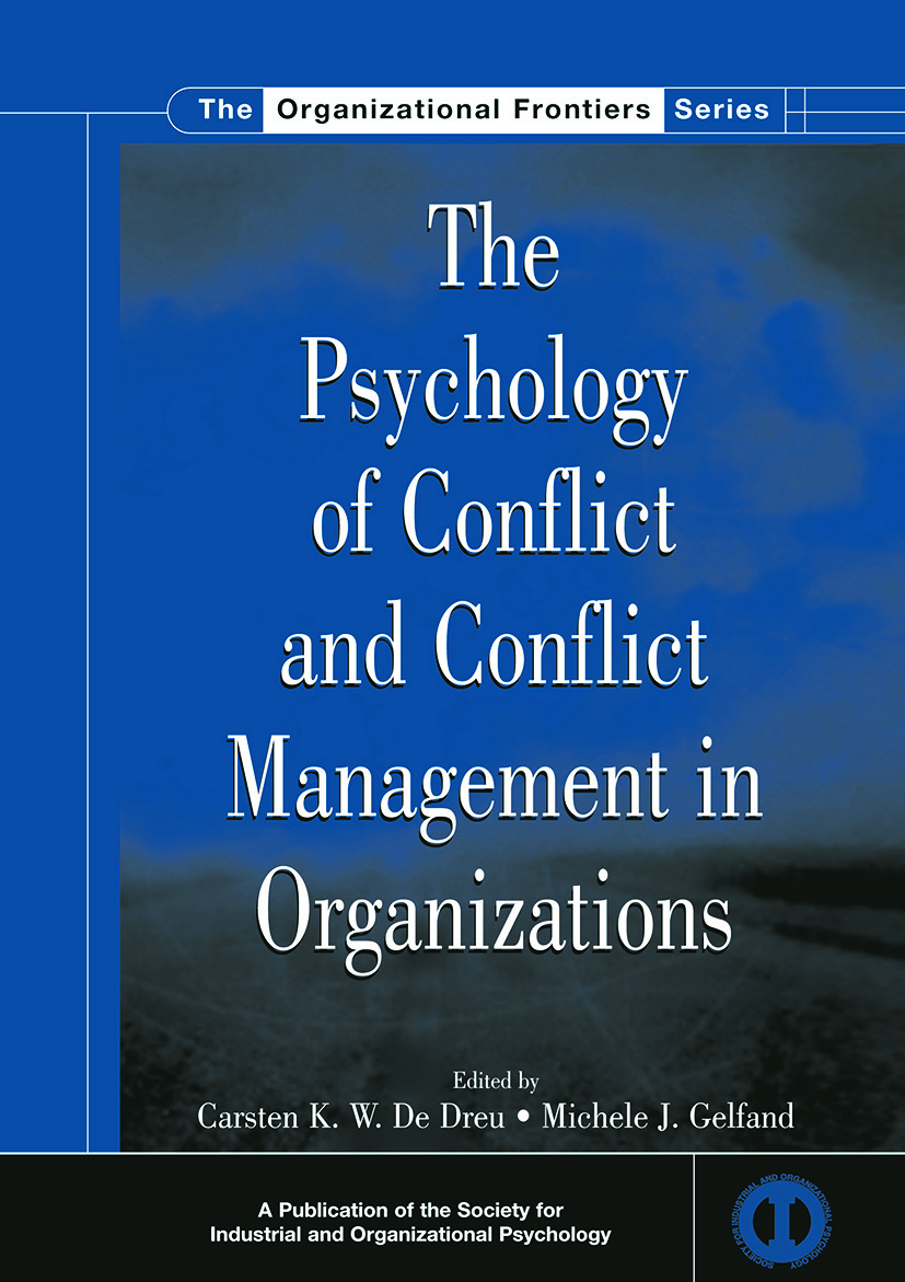 The Psychology of Conflict and Conflict Management in Organizations (Paperback) book cover