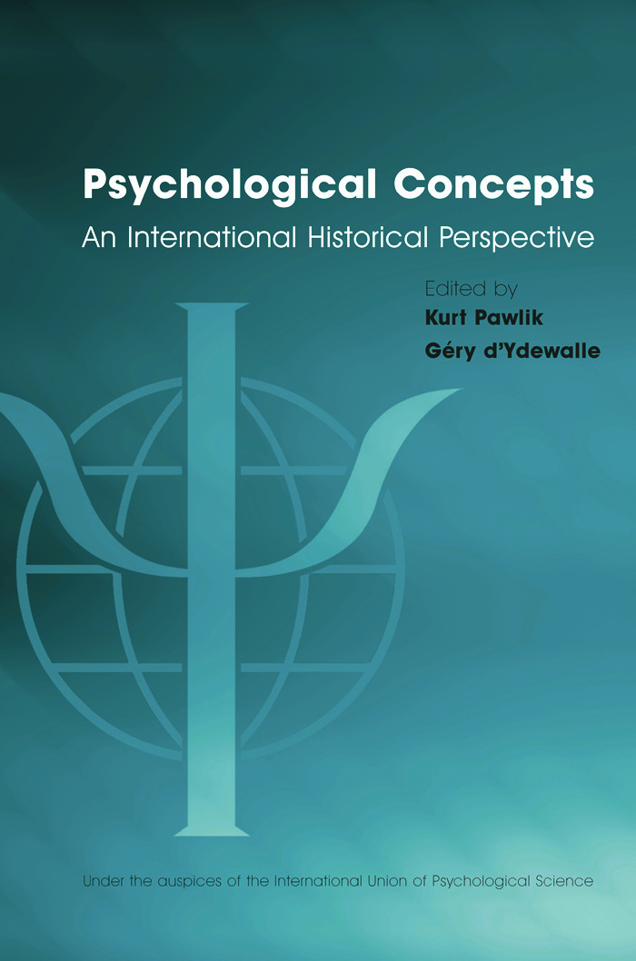 Psychological Concepts: An International Historical Perspective, 1st Edition (Paperback) book cover