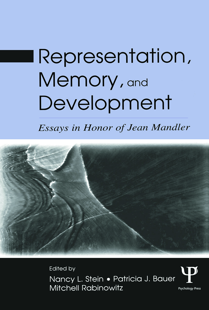 Representation, Memory, and Development: Essays in Honor of Jean Mandler (Paperback) book cover