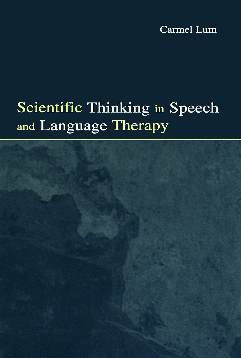 Scientific Thinking in Speech and Language Therapy (Paperback) book cover
