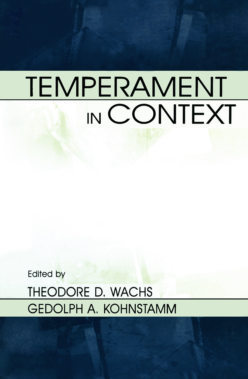 Temperament in Context (Paperback) book cover