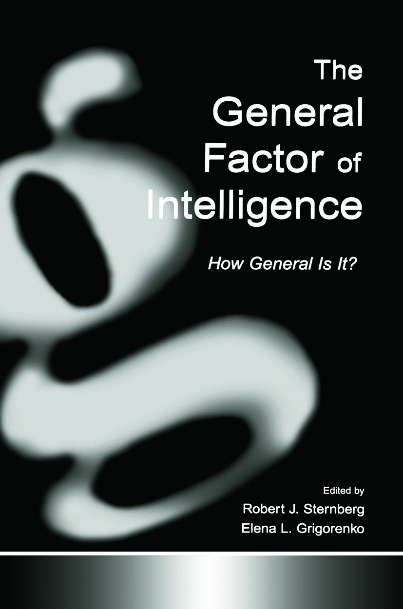 The General Factor of Intelligence: How General Is It? (Paperback) book cover