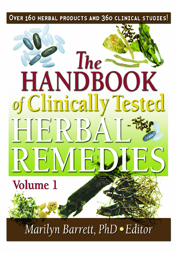 The Handbook of Clinically Tested Herbal Remedies, Volumes 1 & 2: 1st Edition (Paperback) book cover