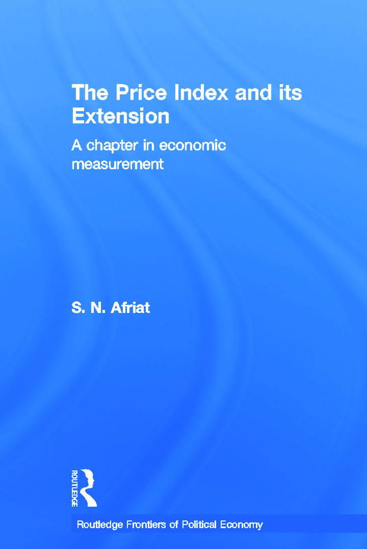 The Price Index and its Extension: A Chapter in Economic Measurement (Paperback) book cover