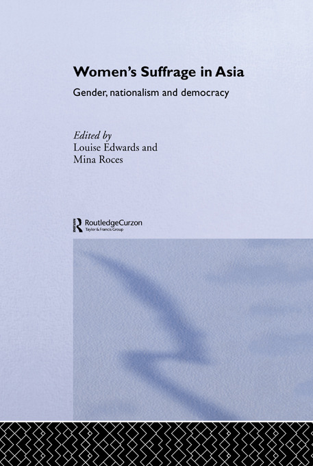 Women's Suffrage in Asia: Gender, Nationalism and Democracy (Paperback) book cover