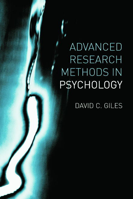 Advanced Research Methods in Psychology (Paperback) book cover