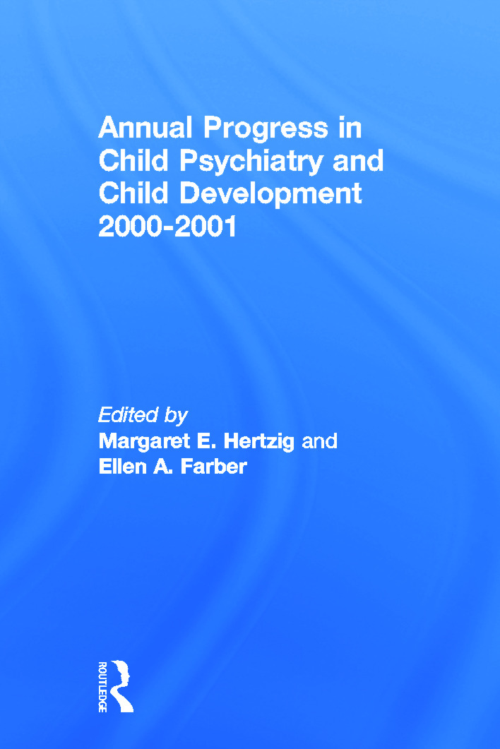 Annual Progress in Child Psychiatry and Child Development 2000-2001 (Paperback) book cover