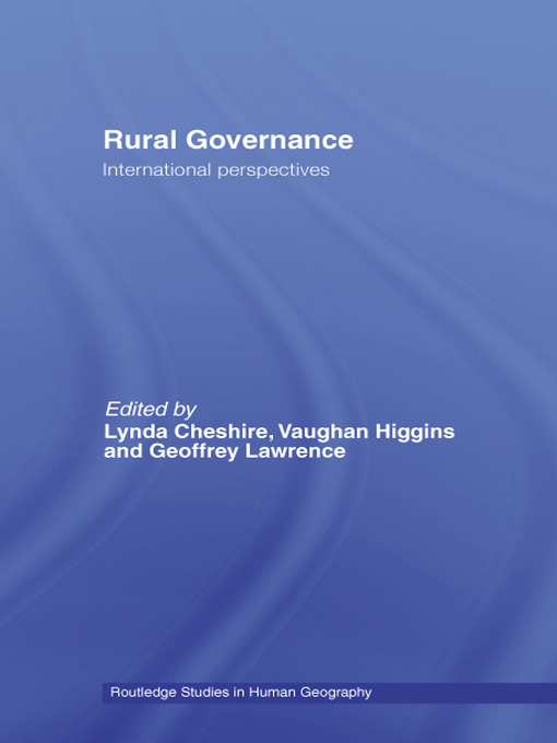 Rural Governance: International Perspectives book cover