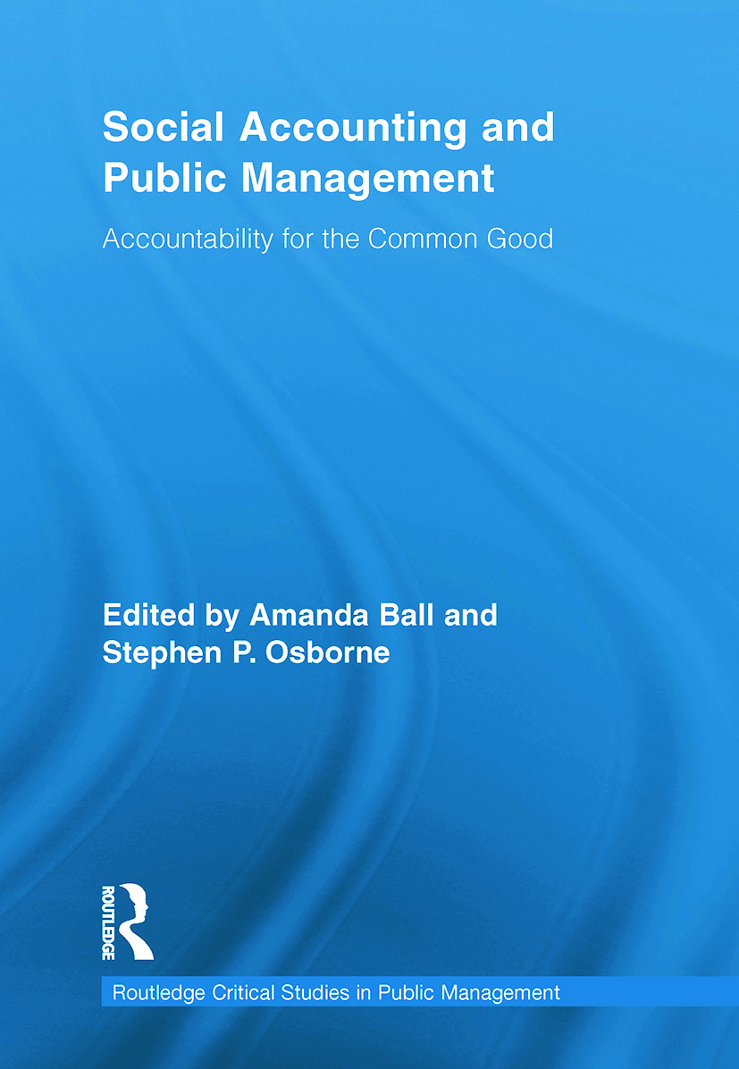 Social Accounting and Public Management: Accountability for the Public Good (Paperback) book cover