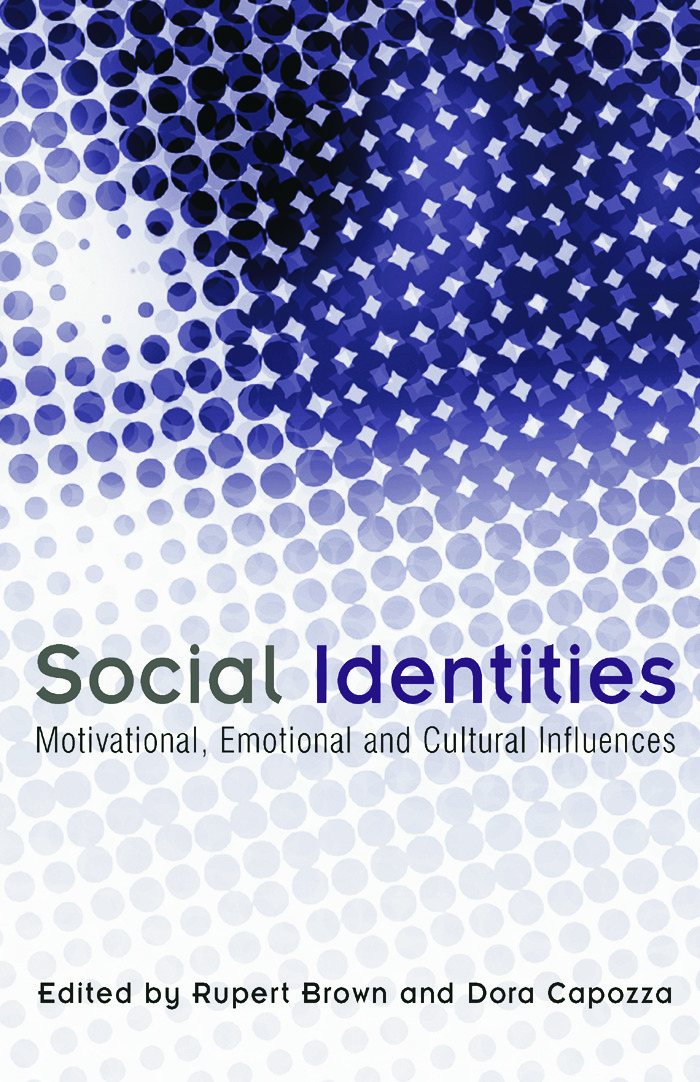 Social Identities: Motivational, Emotional, Cultural Influences (Paperback) book cover
