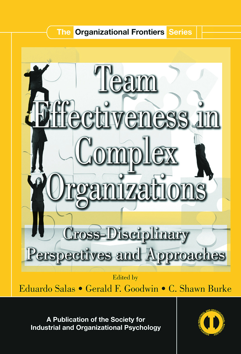 Team Effectiveness In Complex Organizations: Cross-Disciplinary Perspectives and Approaches (Paperback) book cover