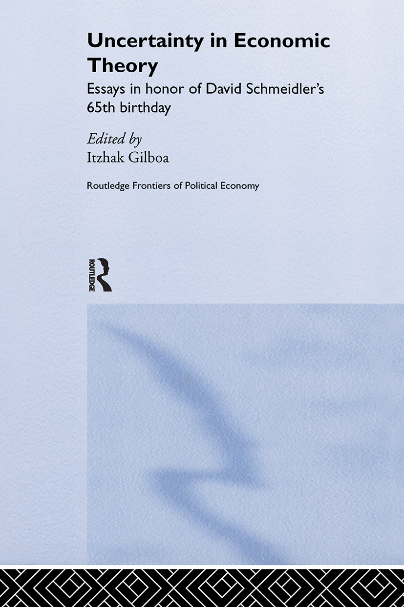 Uncertainty in Economic Theory
