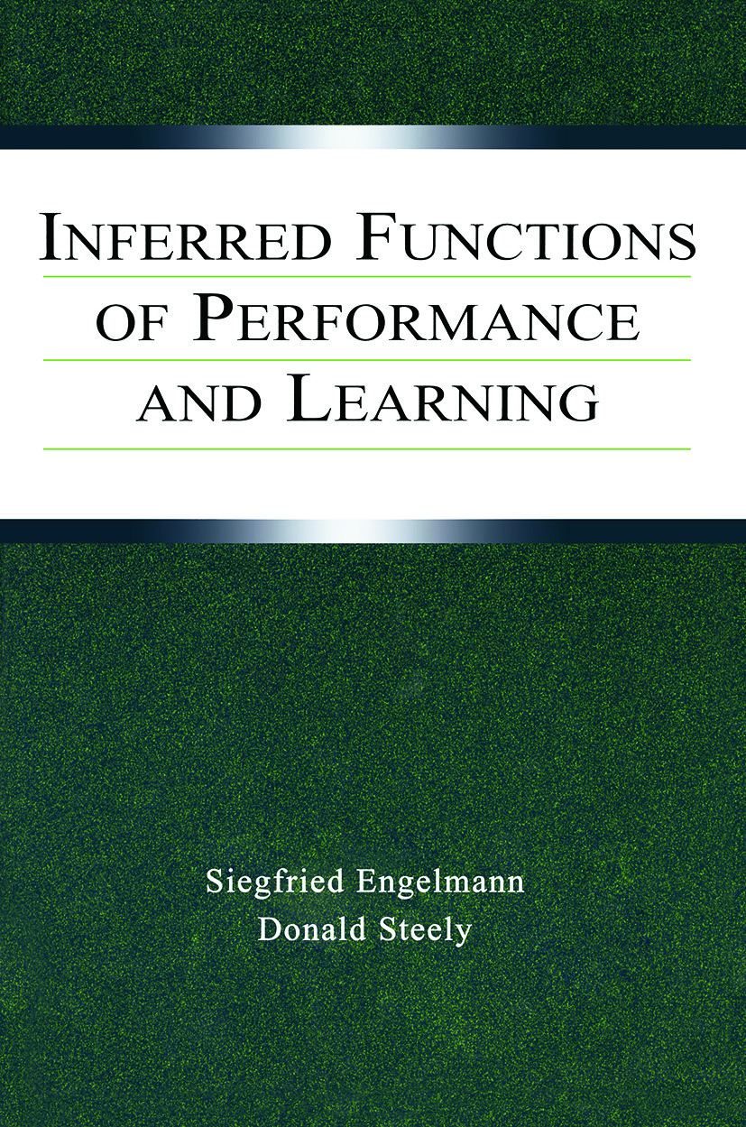 Inferred Functions of Performance and Learning (Paperback) book cover