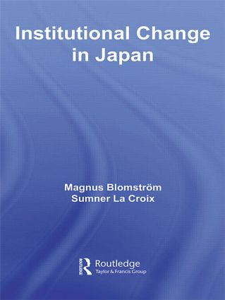 Institutional Change in Japan (e-Book) book cover