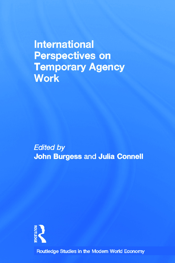 International Perspectives on Temporary Work (Paperback) book cover
