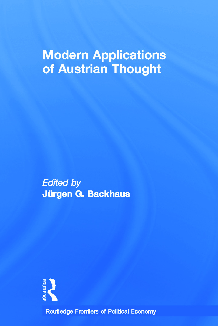 Modern Applications of Austrian Thought (Paperback) book cover