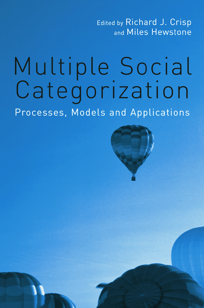 Multiple Social Categorization: Processes, Models and Applications (Paperback) book cover