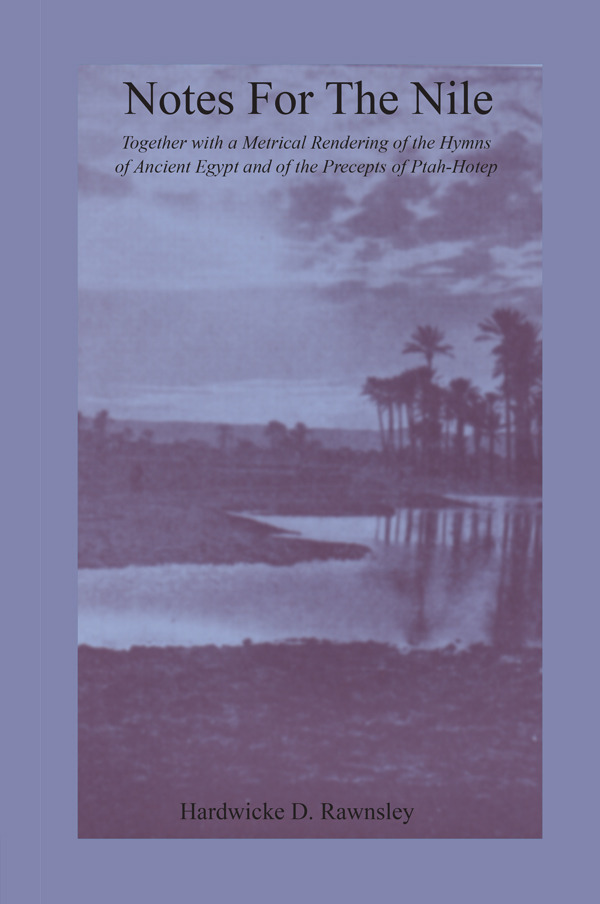 Notes For The Nile: 1st Edition (Paperback) book cover