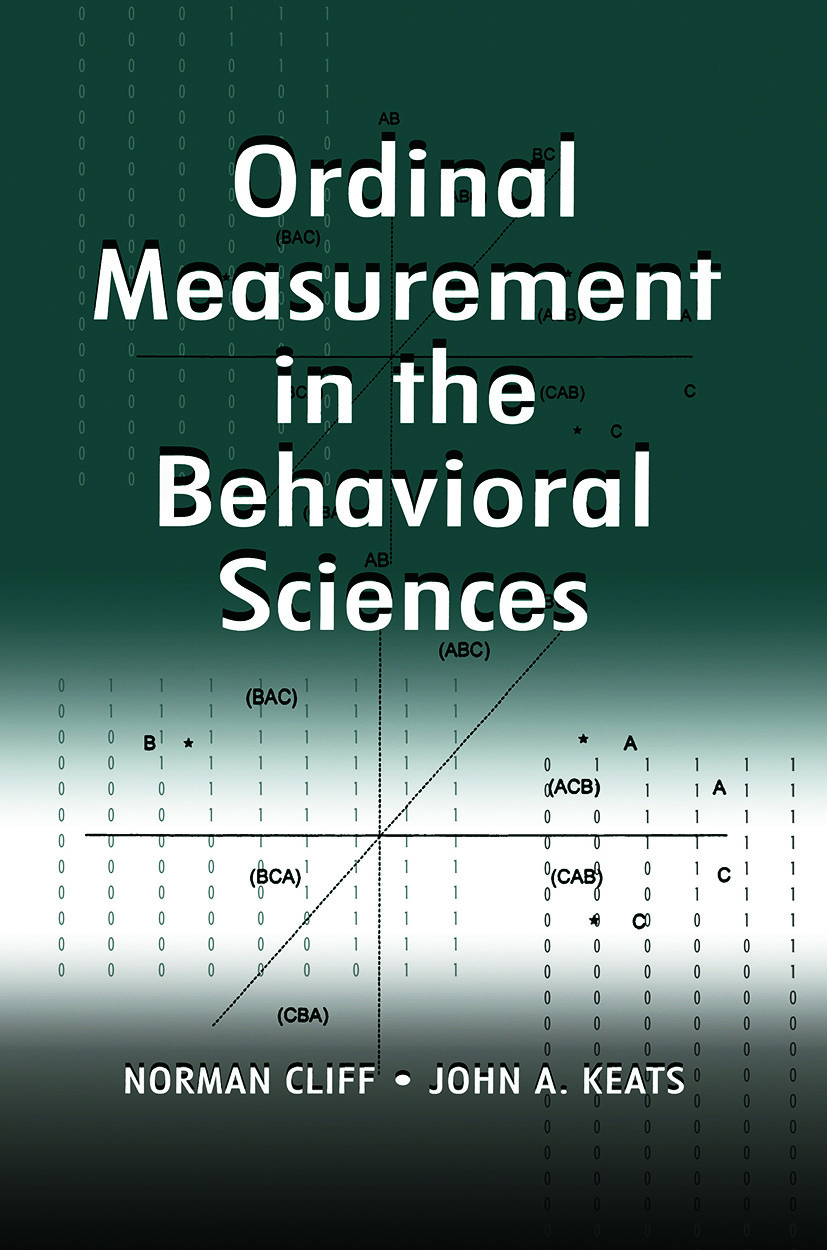 Ordinal Measurement in the Behavioral Sciences: 1st Edition (Paperback) book cover