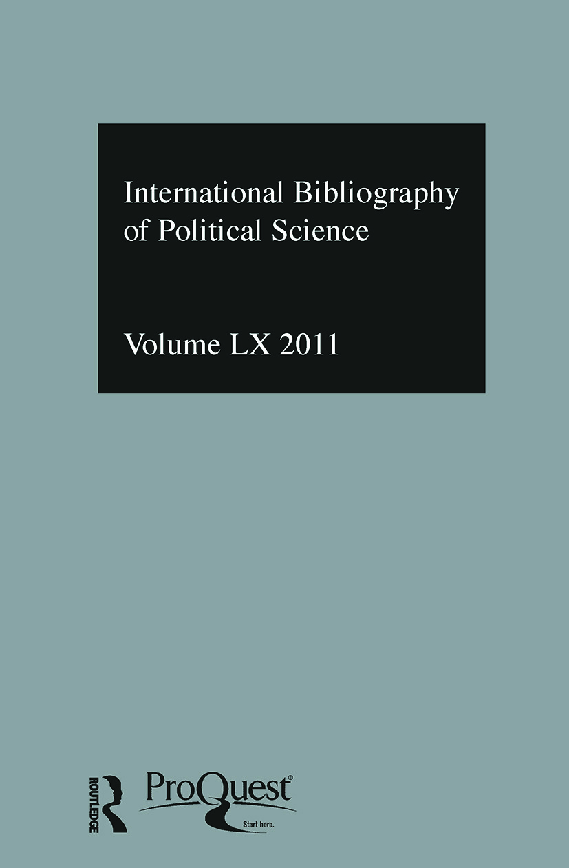 IBSS: Political Science: 2011 Vol.60: International Bibliography of the Social Sciences, 1st Edition (Hardback) book cover