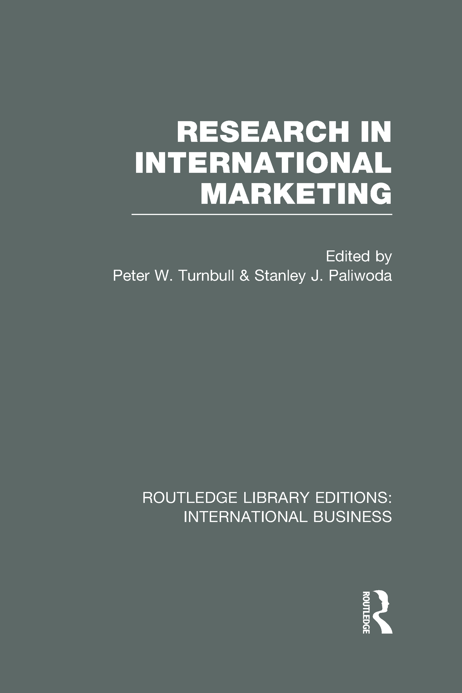Research in International Marketing (RLE International Business) (Hardback) book cover
