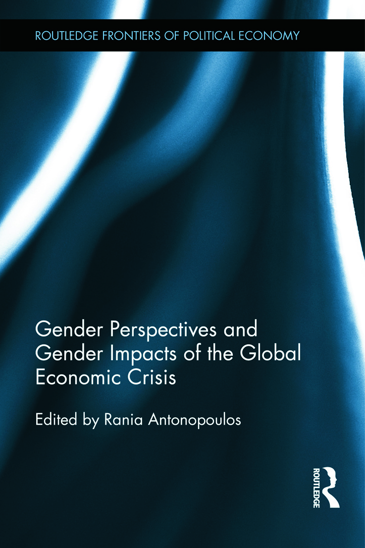 Gender Perspectives and Gender Impacts of the Global Economic Crisis (Hardback) book cover
