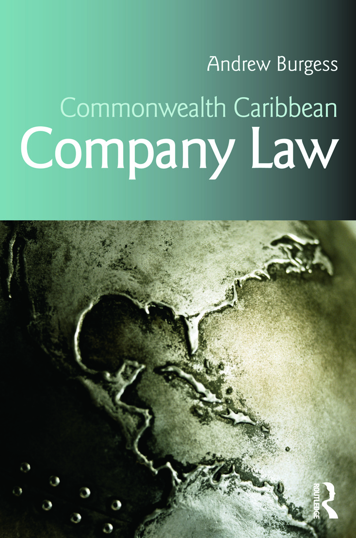 Commonwealth Caribbean Company Law (Paperback) book cover