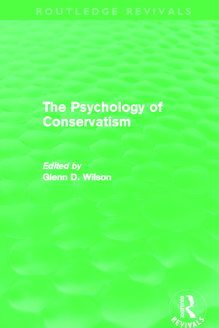 The Psychology of Conservatism (Routledge Revivals) (Hardback) book cover