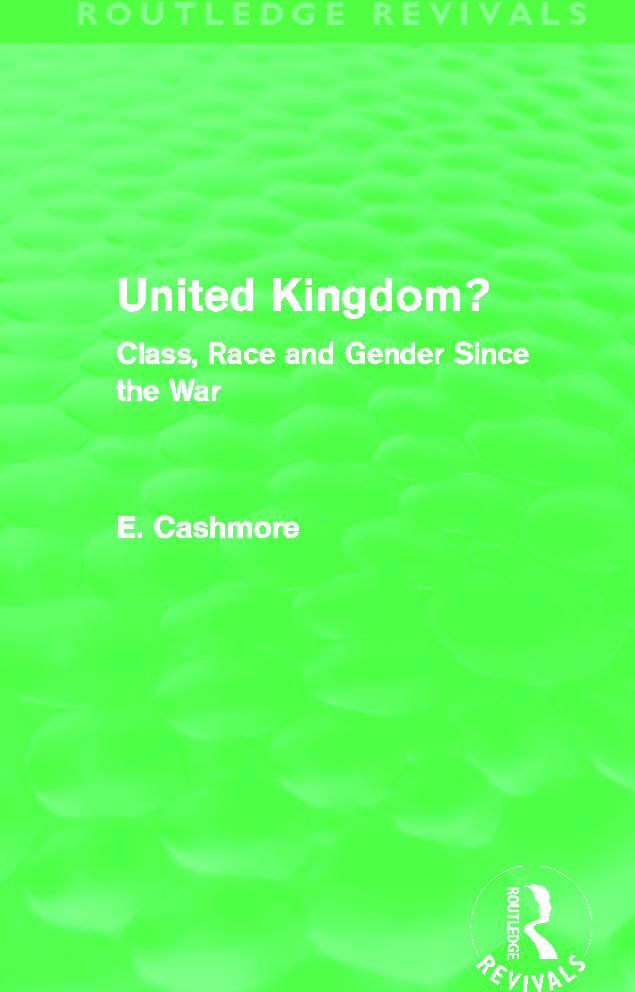 United Kingdom? (Routledge Revivals): Class, Race and Gender since the War (Hardback) book cover