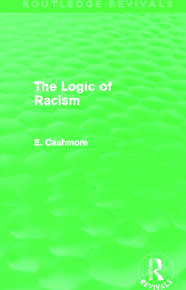 The Logic of Racism (Routledge Revivals) (Hardback) book cover