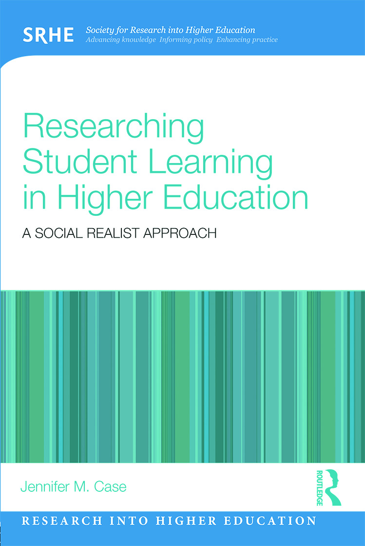 Researching Student Learning in Higher Education: A social realist approach (Paperback) book cover