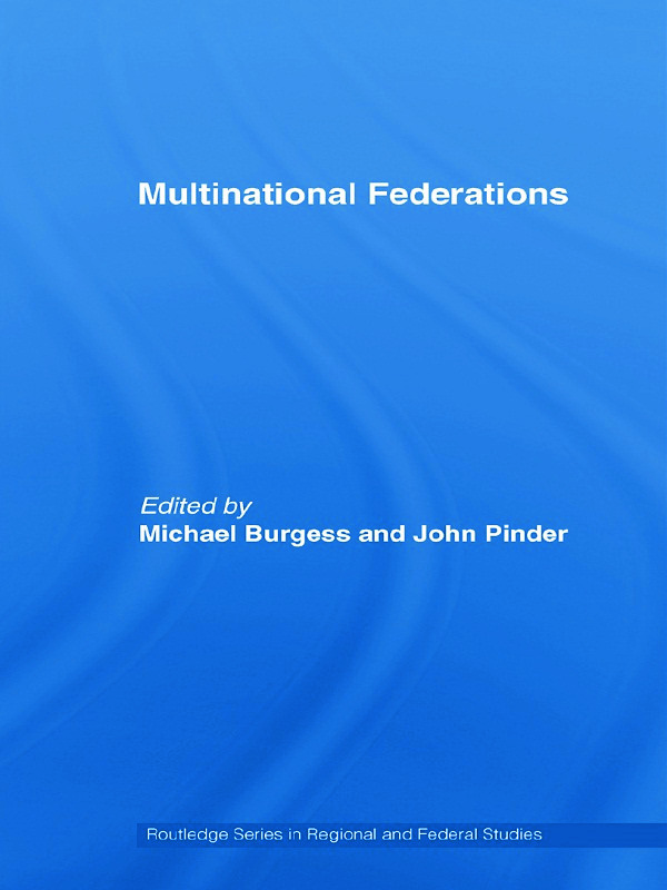 Multinational Federations (Paperback) book cover